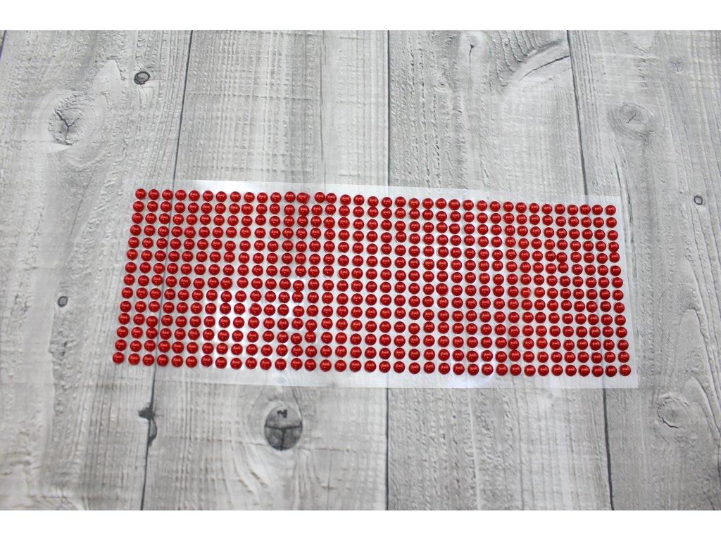 Perličky nalepovací 6mm-červená