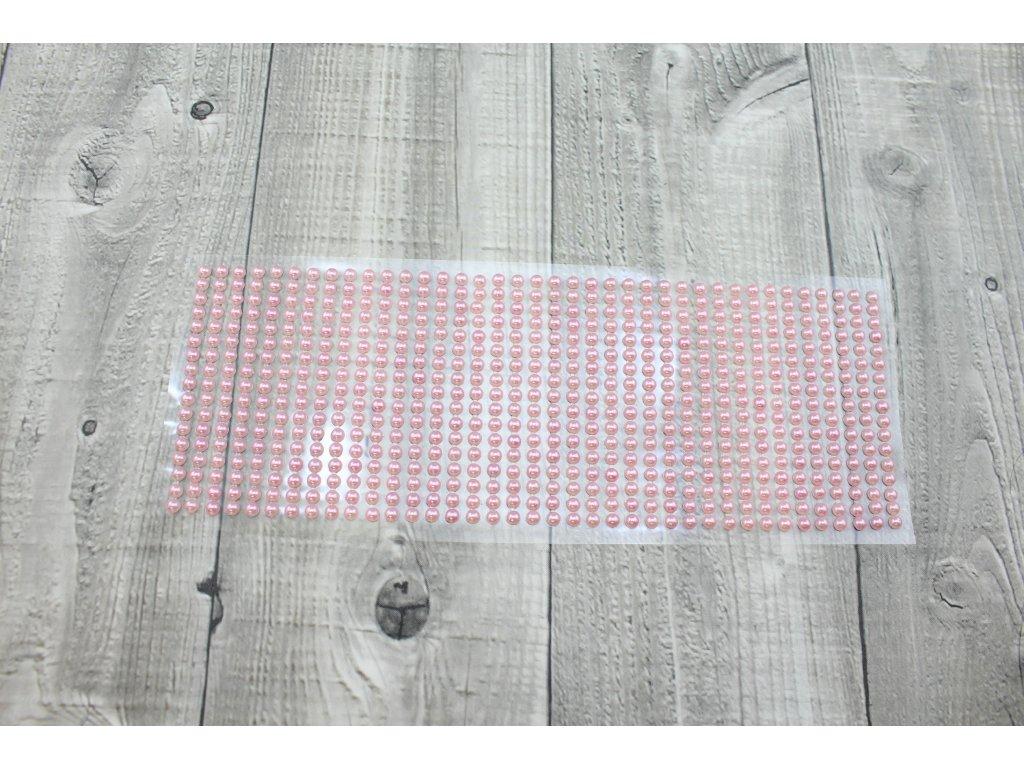 Perličky nalepovací 5mm-růžová