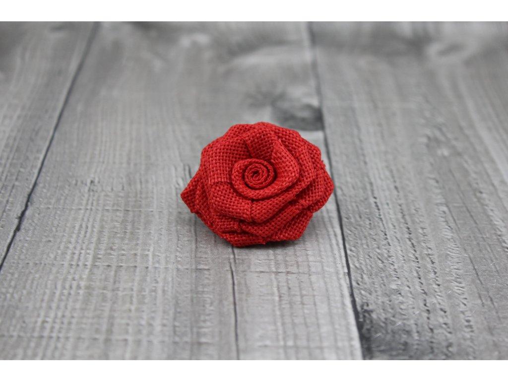 Růžička juta-červená