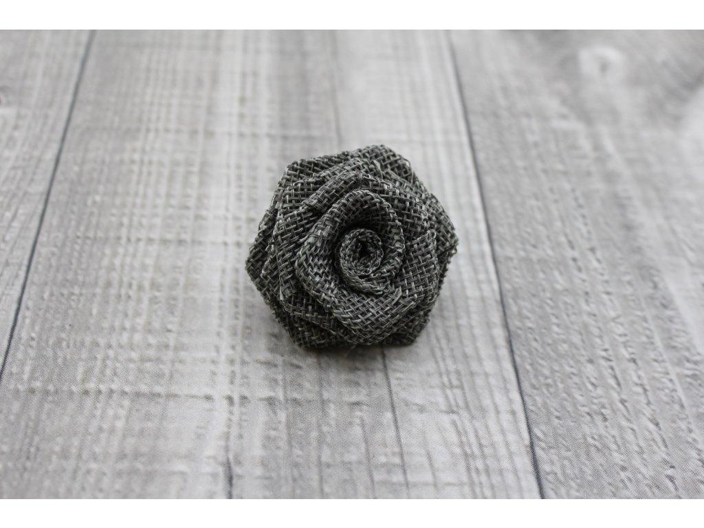 Růžička juta-tmavě šedá