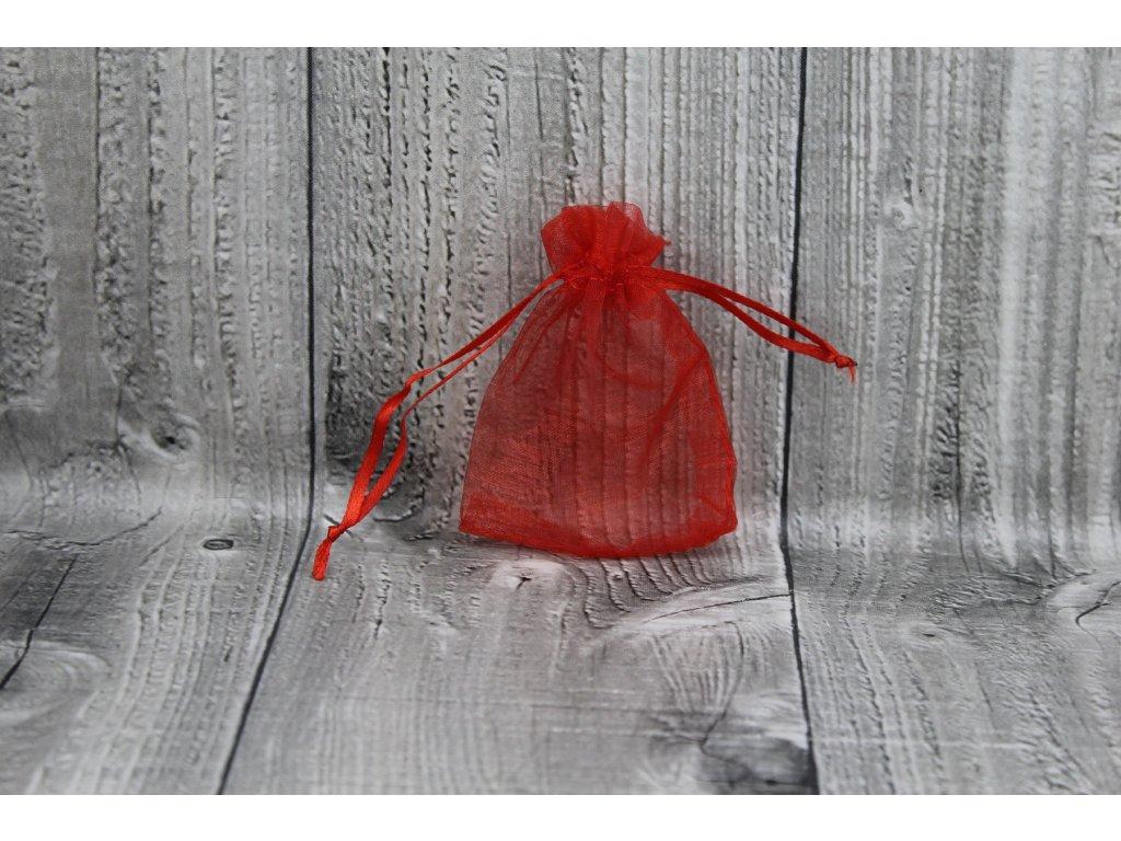 Sáček šifon-červený