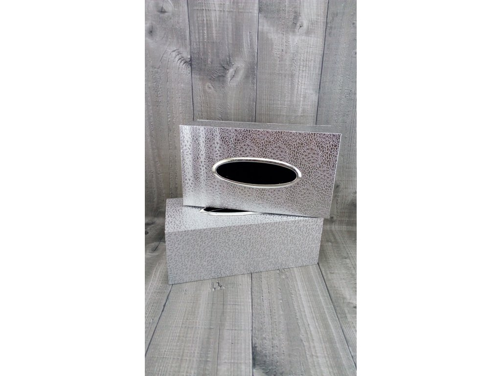 Krabice na kapesníky-stříbrná