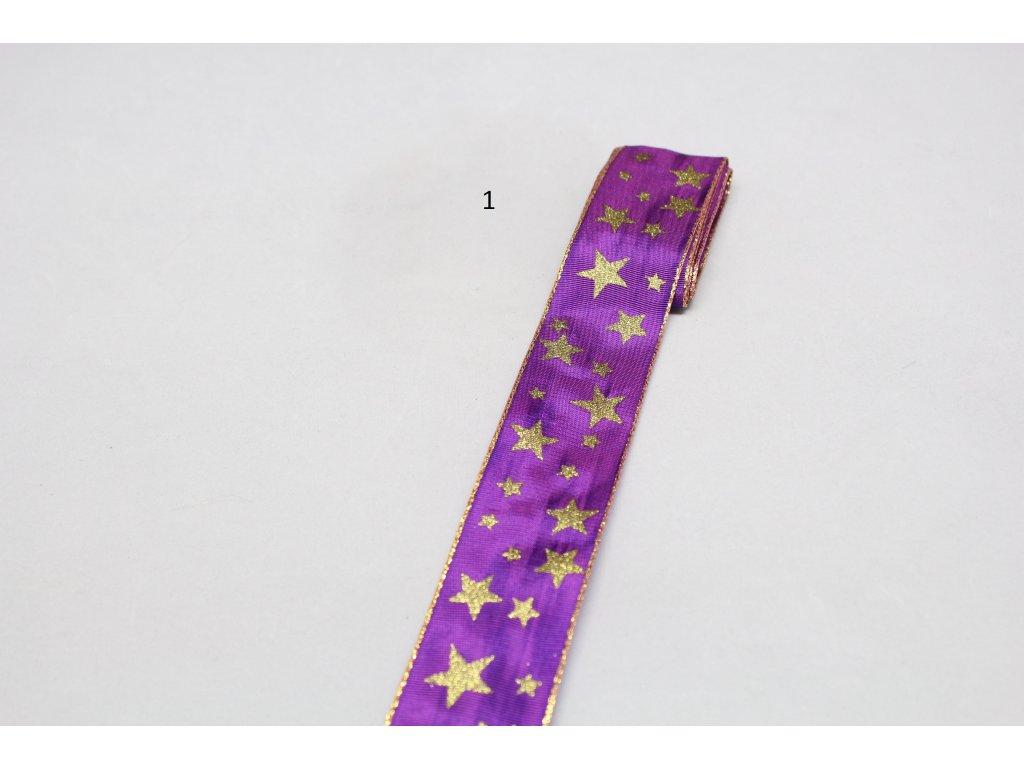 Stuha 40mm hvězdičky