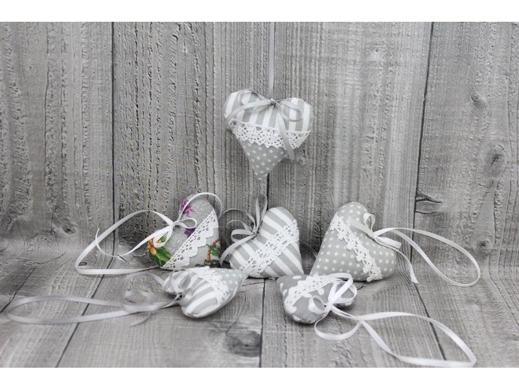 Srdíčko mini závěsné-šedé