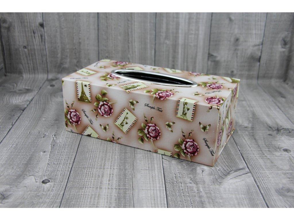 Krabice na kapesníky-růže