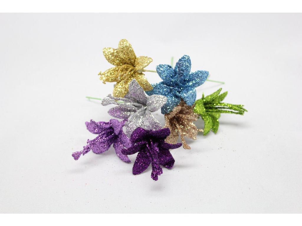 Květ lilie glitr