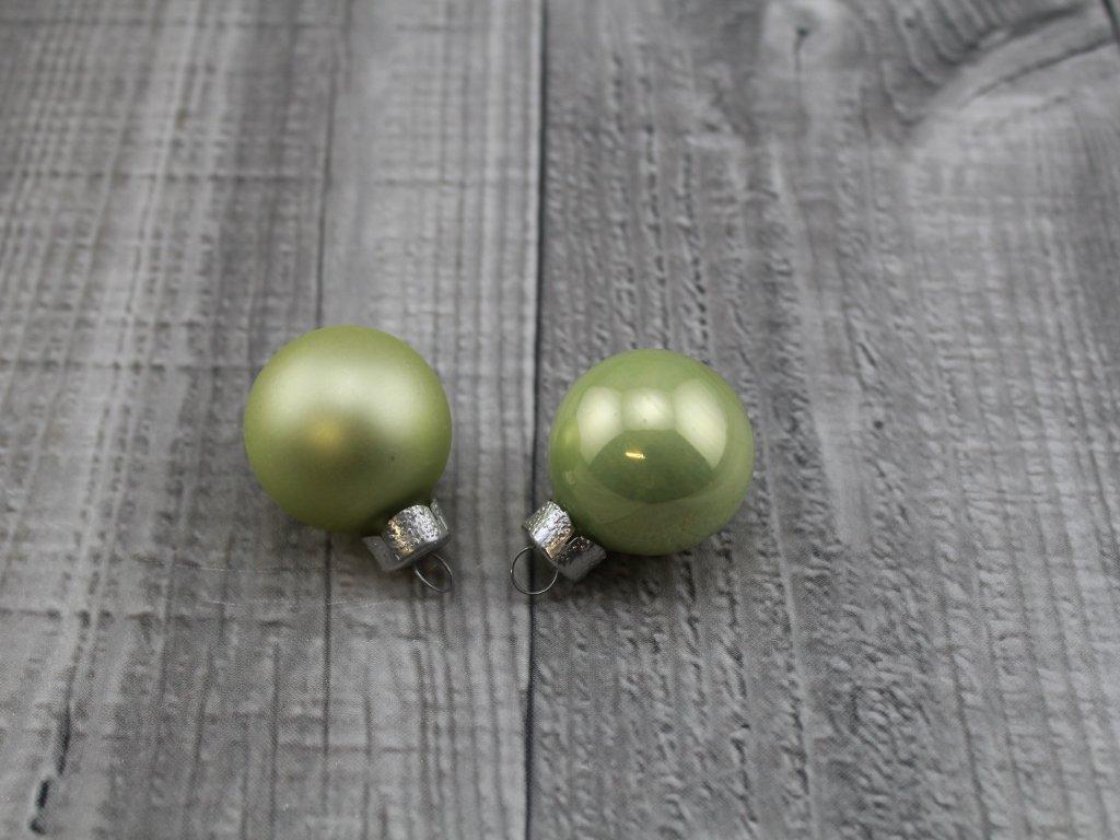 Skleněné kouličky závěsné-zelenkavá