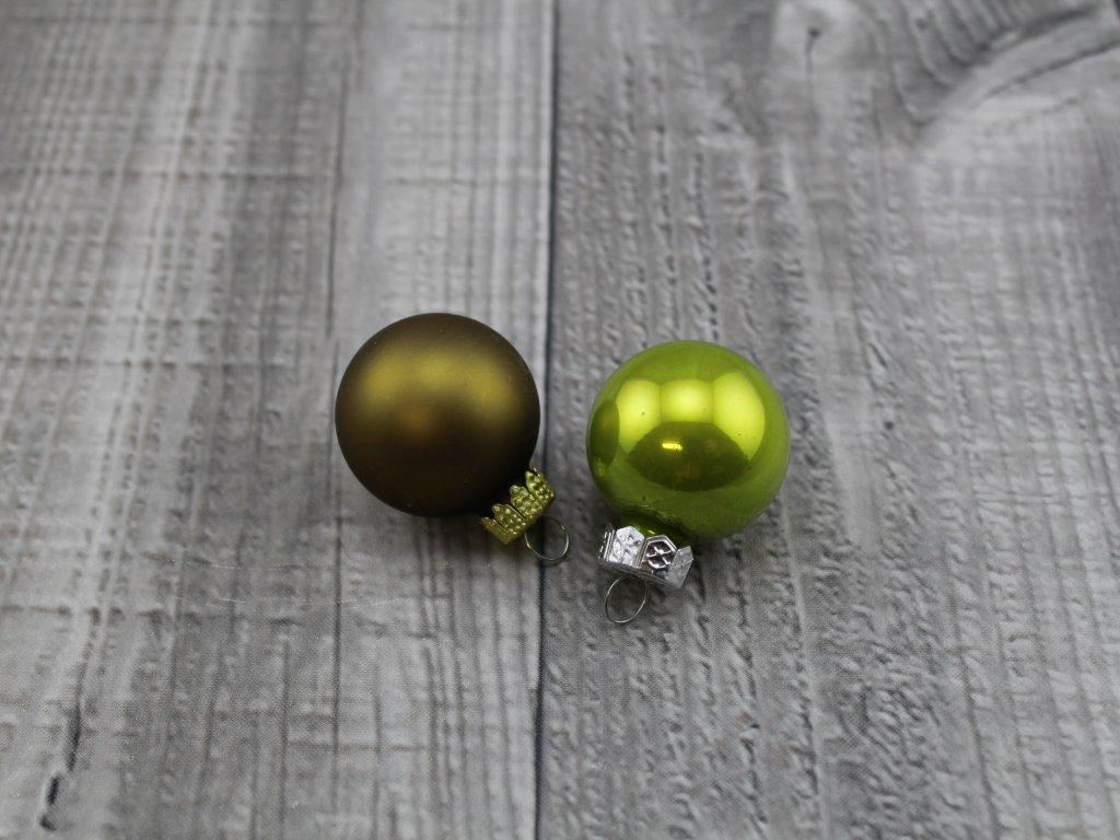Skleněné kouličky závěsné-olivová