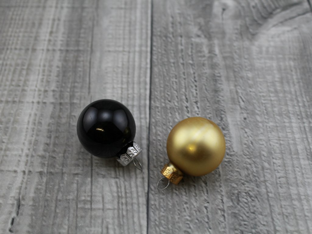 Skleněné kouličky závěsné-černozlatá
