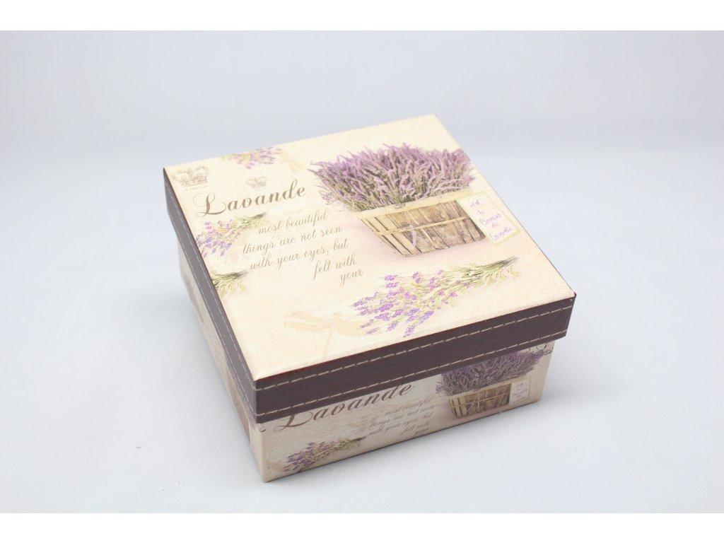 Dárková krabice čtvercová Velikost,tvar: malá