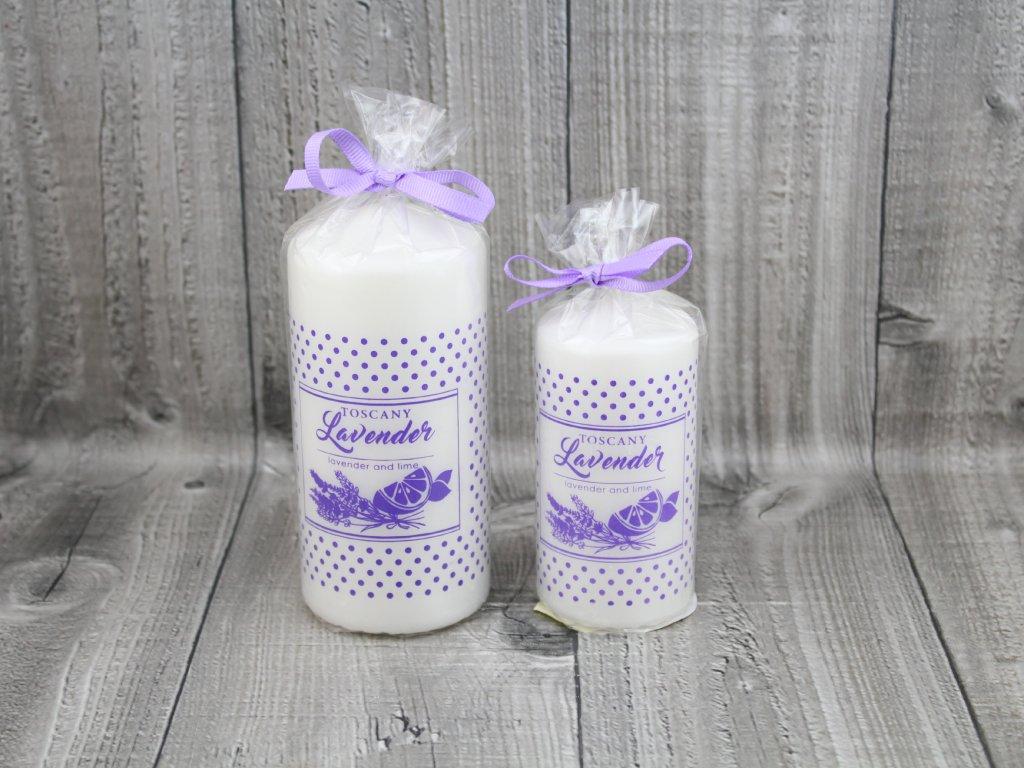 Svíčka válec lavender Toscany
