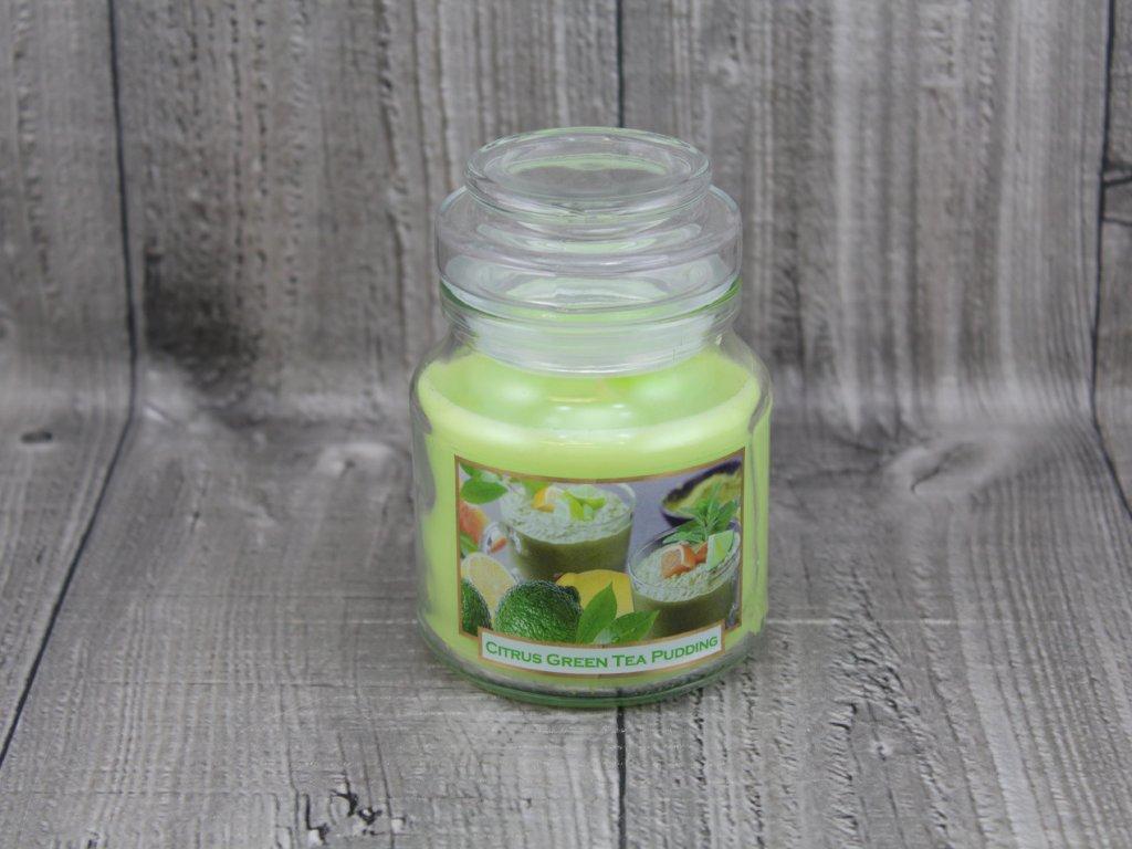 Svíčka ve sklenici citrus green tea