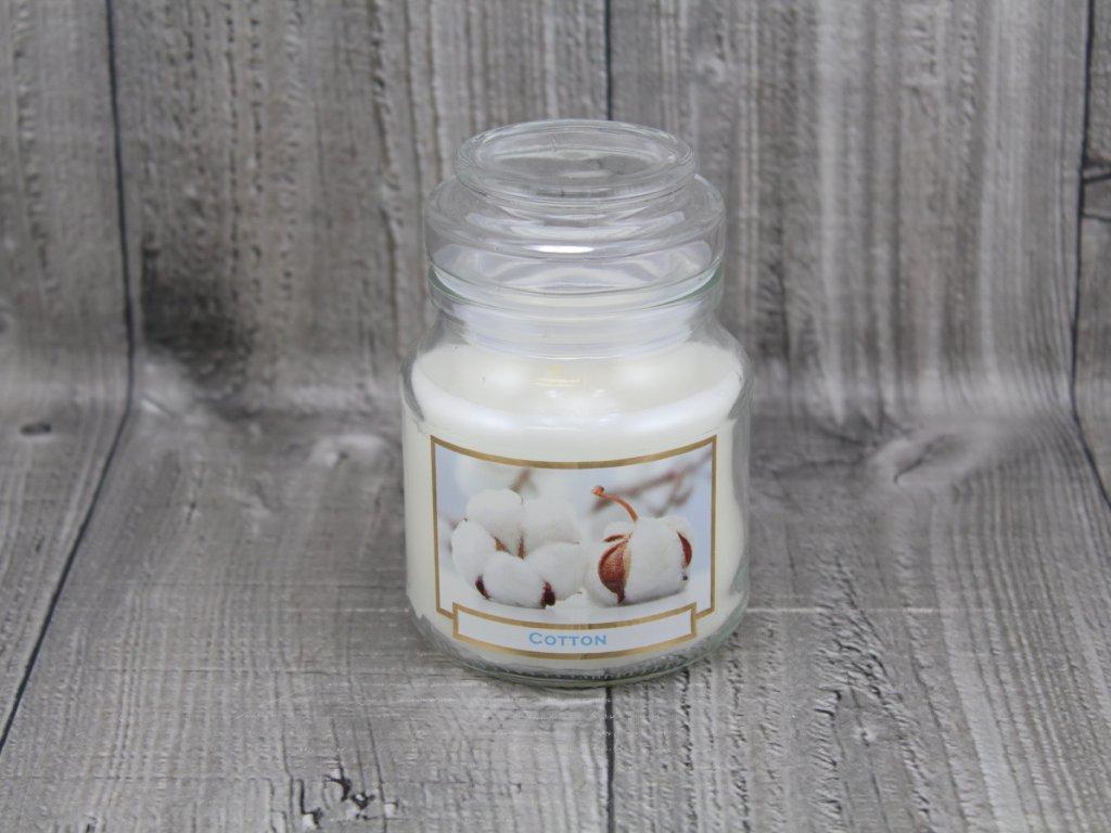 Svíčka ve sklenici cotton