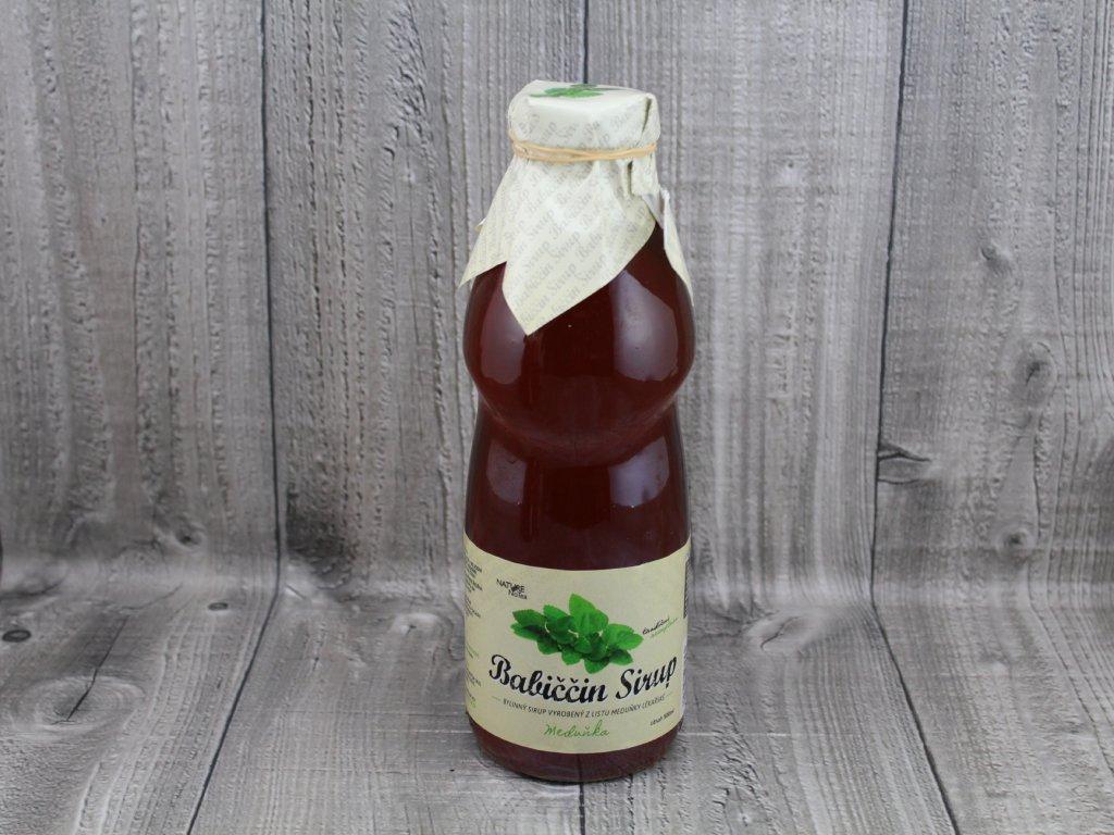 Babiččin sirup meduňka 200ml, 500ml