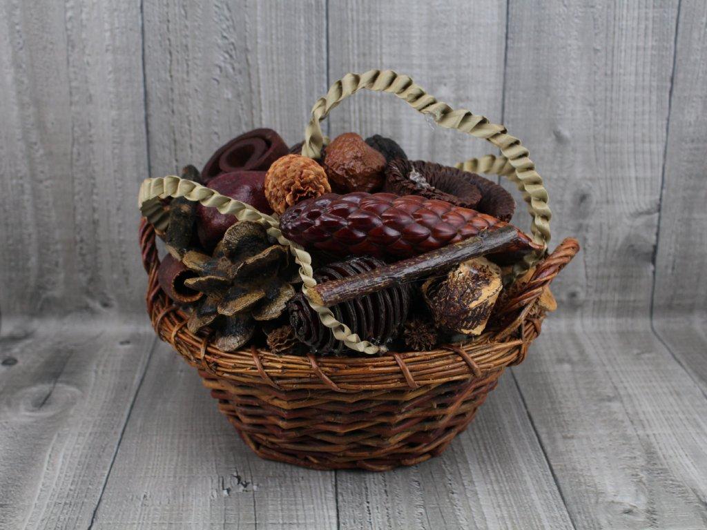 Košík kulatý s plody