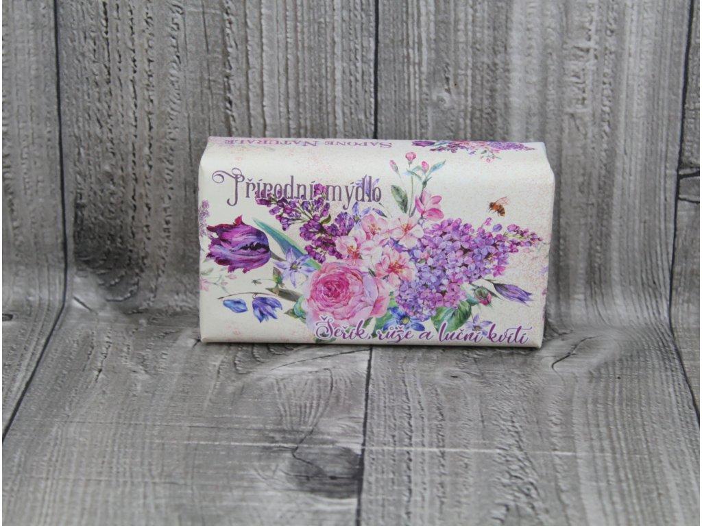 Mýdlo přírodní 260g-Šeřík,růže a luční kvítí