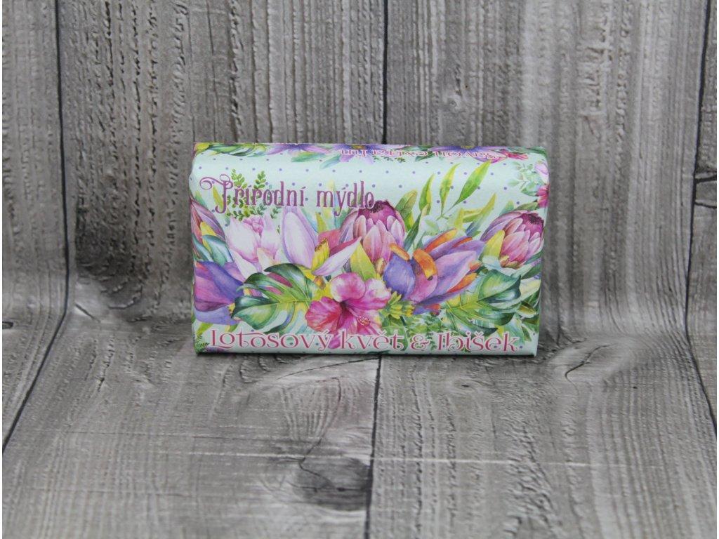 Mýdlo přírodní 260g-Lotosový květ a ibišek