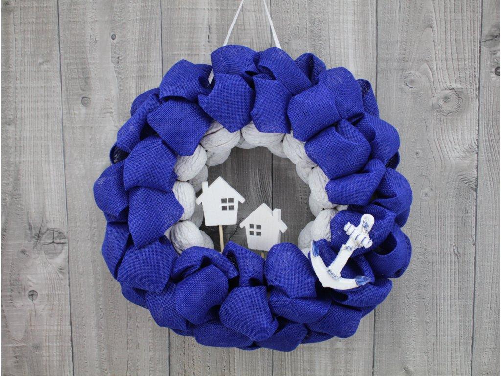 Věnec moře-modrý s kotvou