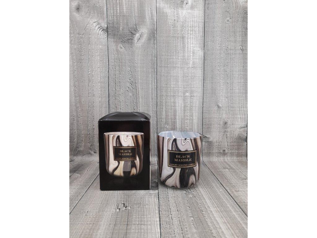 Svíčka ve skle-BLACK MARBLE