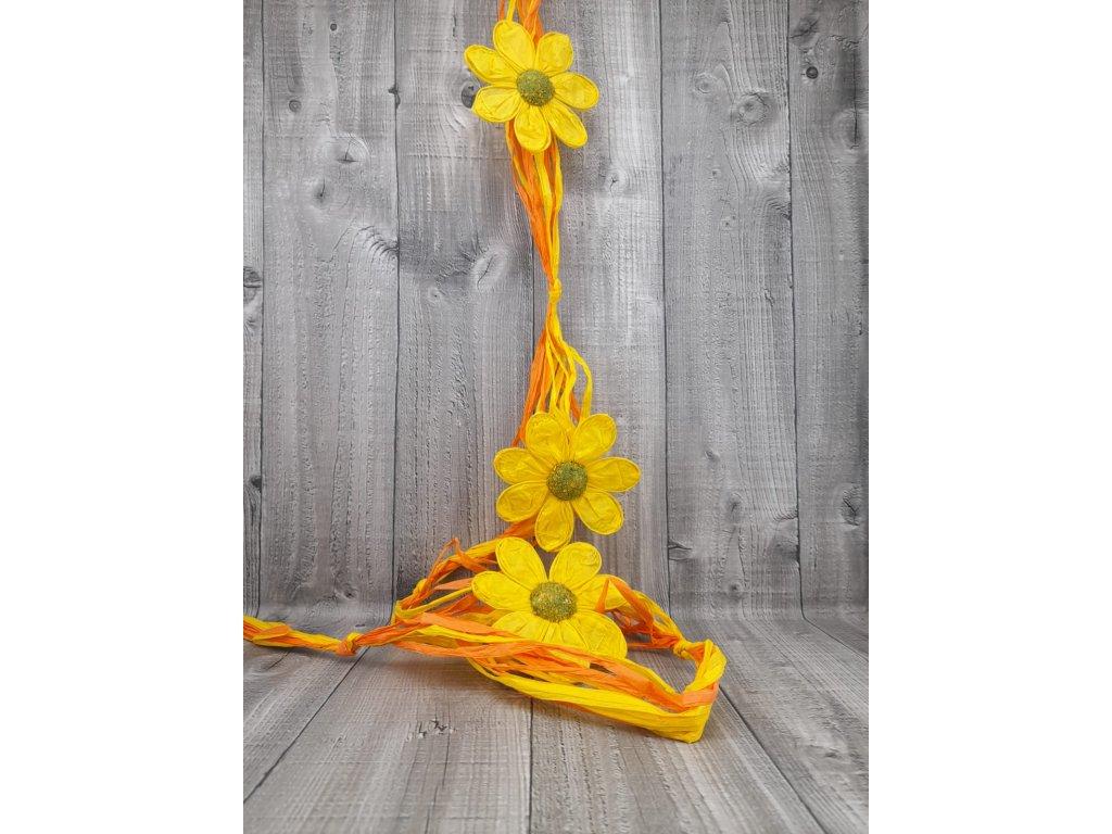 Girlanda raffie-žlutá