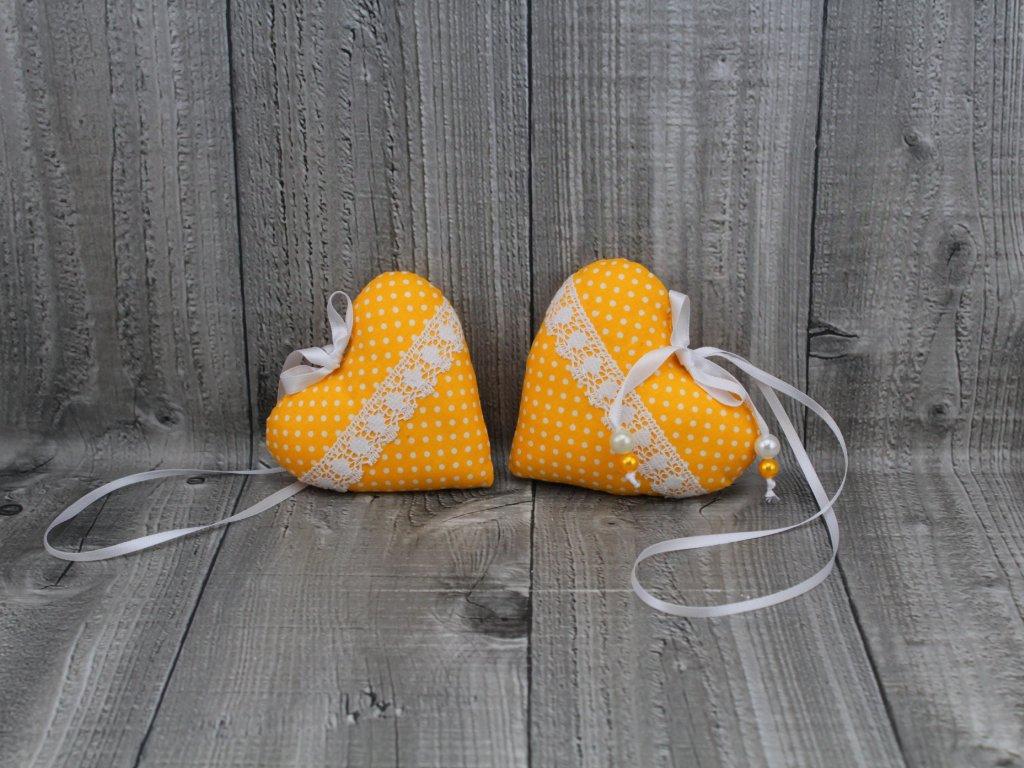 Srdce 2 kusy-žluté