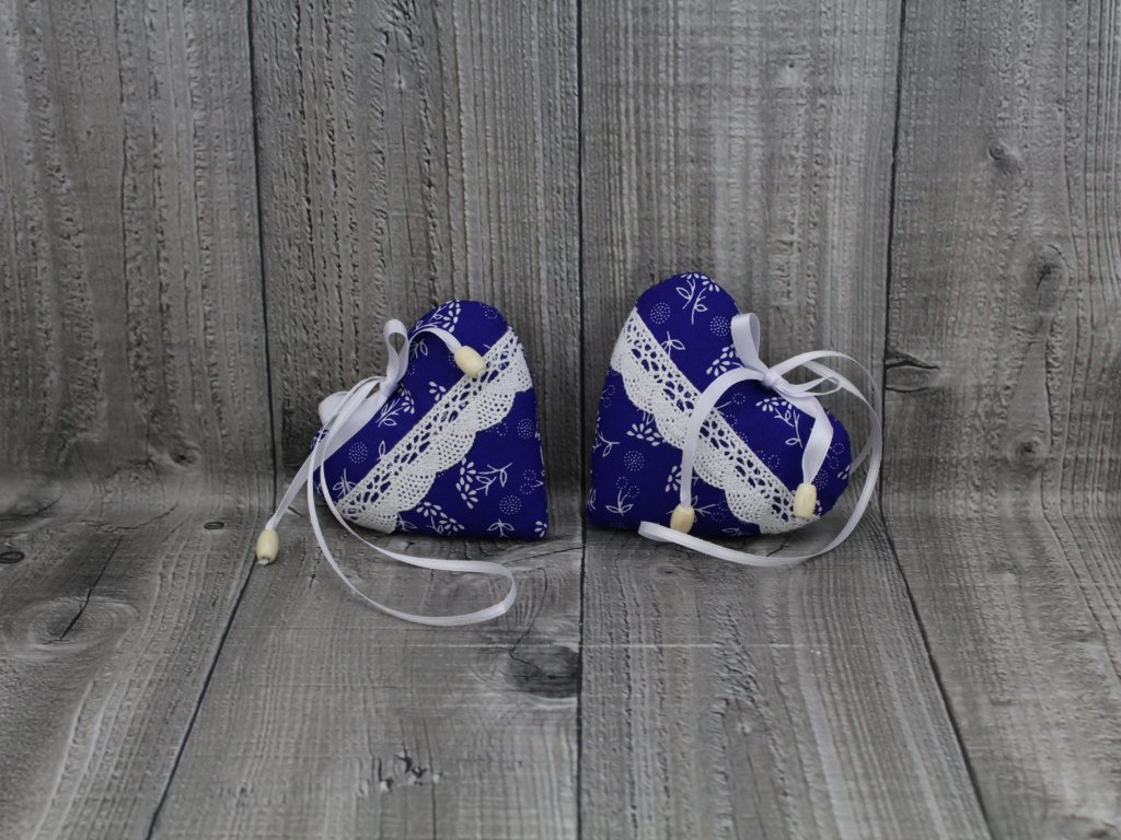 Srdce 2 kusy-modré