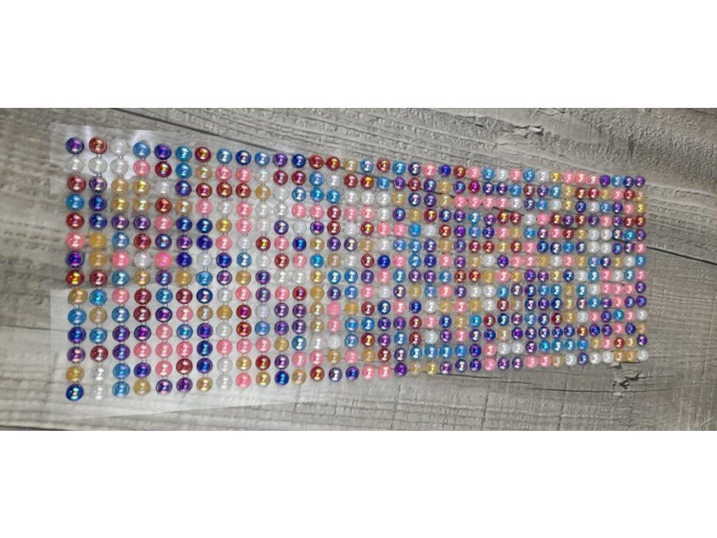 Perličky nalepovací 6mm-mix barev