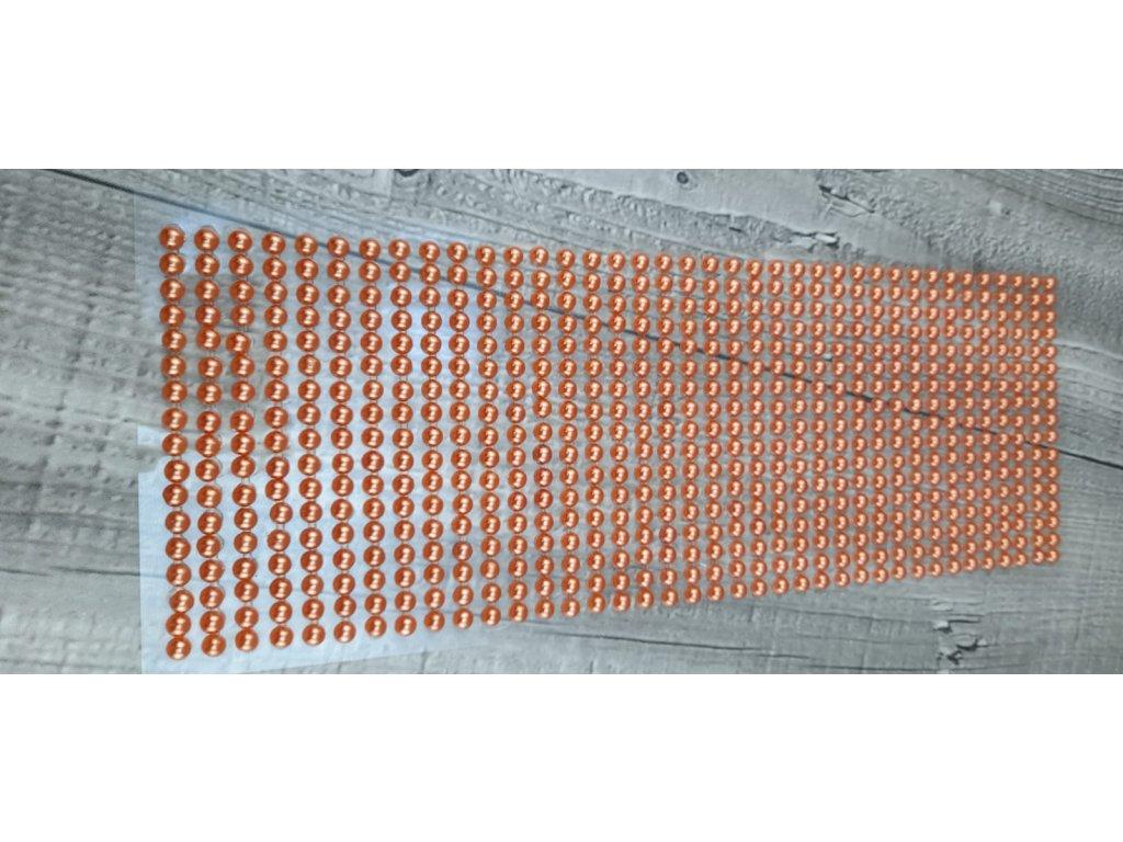 Perličky nalepovací 5mm-oranžová