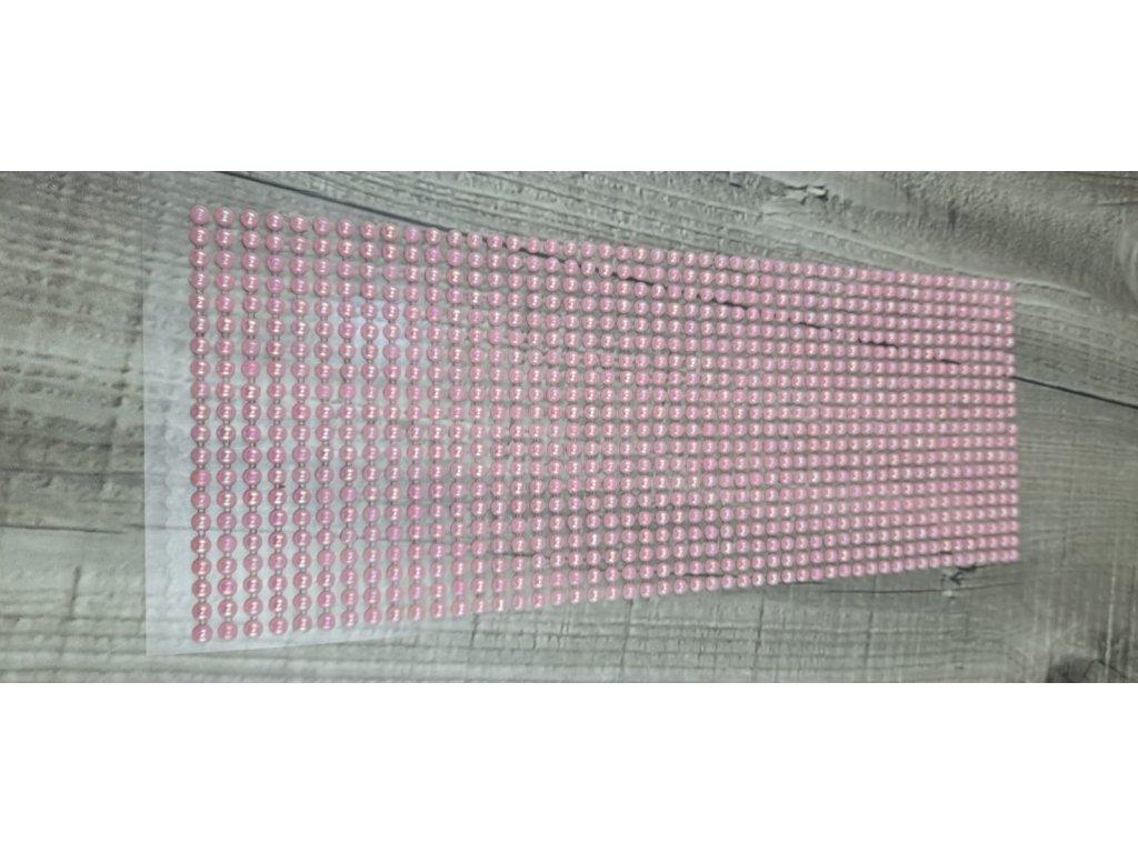 Perličky nalepovací 4mm-růžová světlá