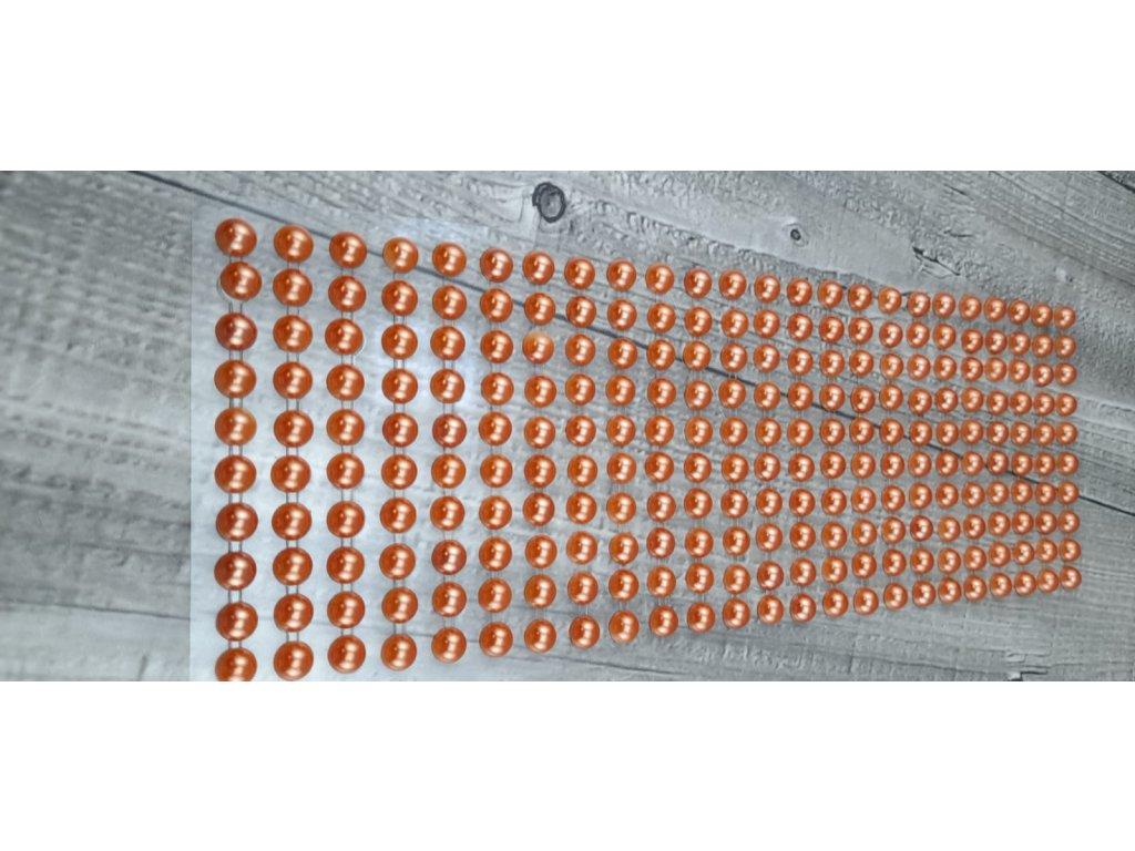 Perličky nalepovací 8mm-meruňková