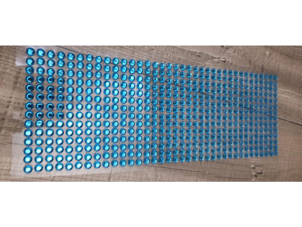 Kamínky nalepovací 6mm-modrá