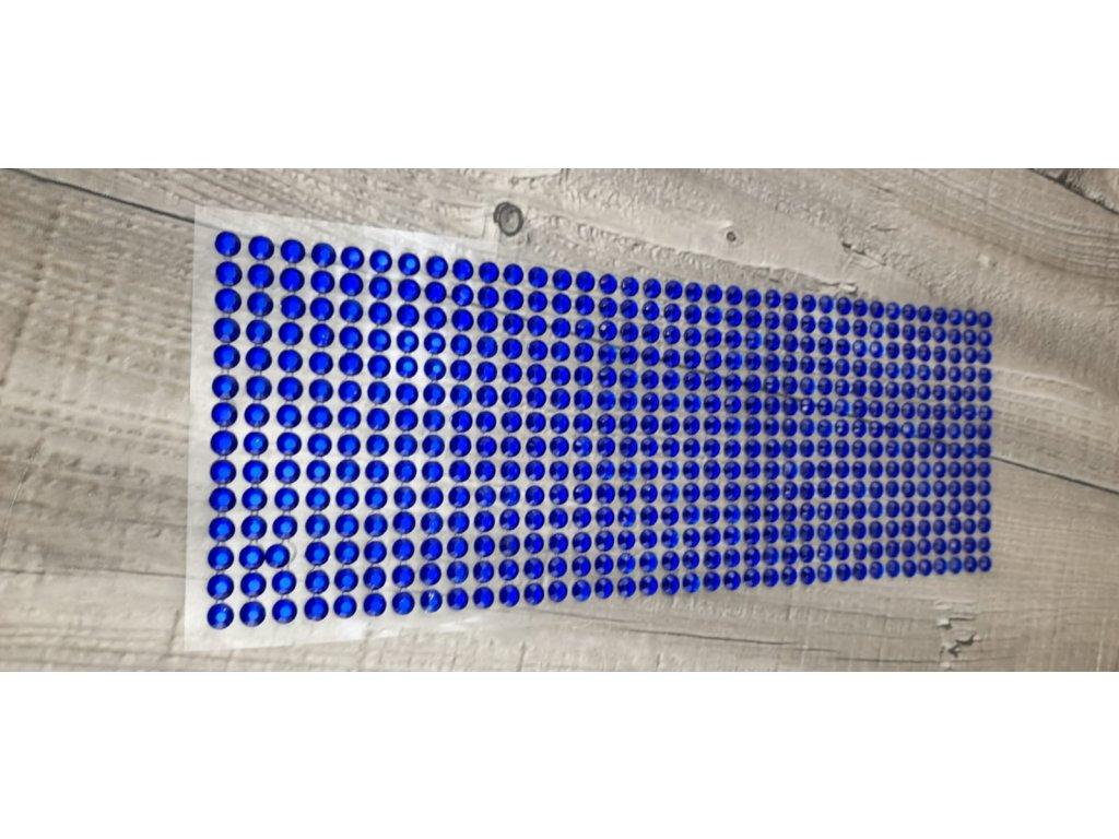 Kamínky nalepovací 6mm-modrá tmavá
