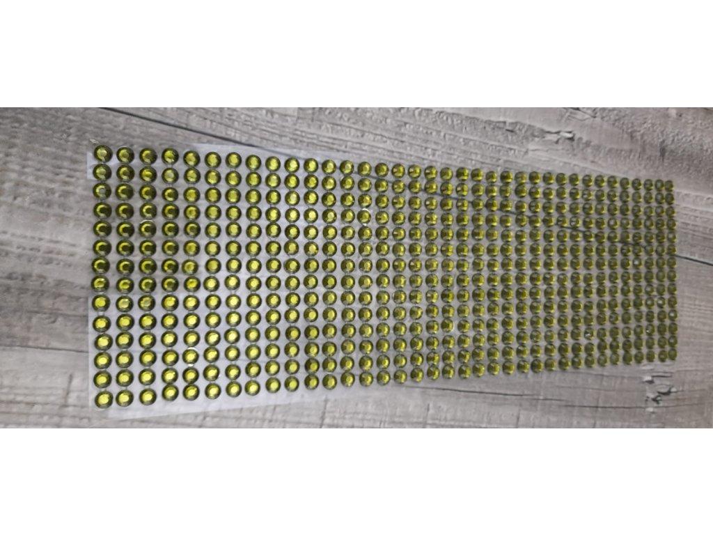 Kamínky nalepovací 6mm-zelená tmavá