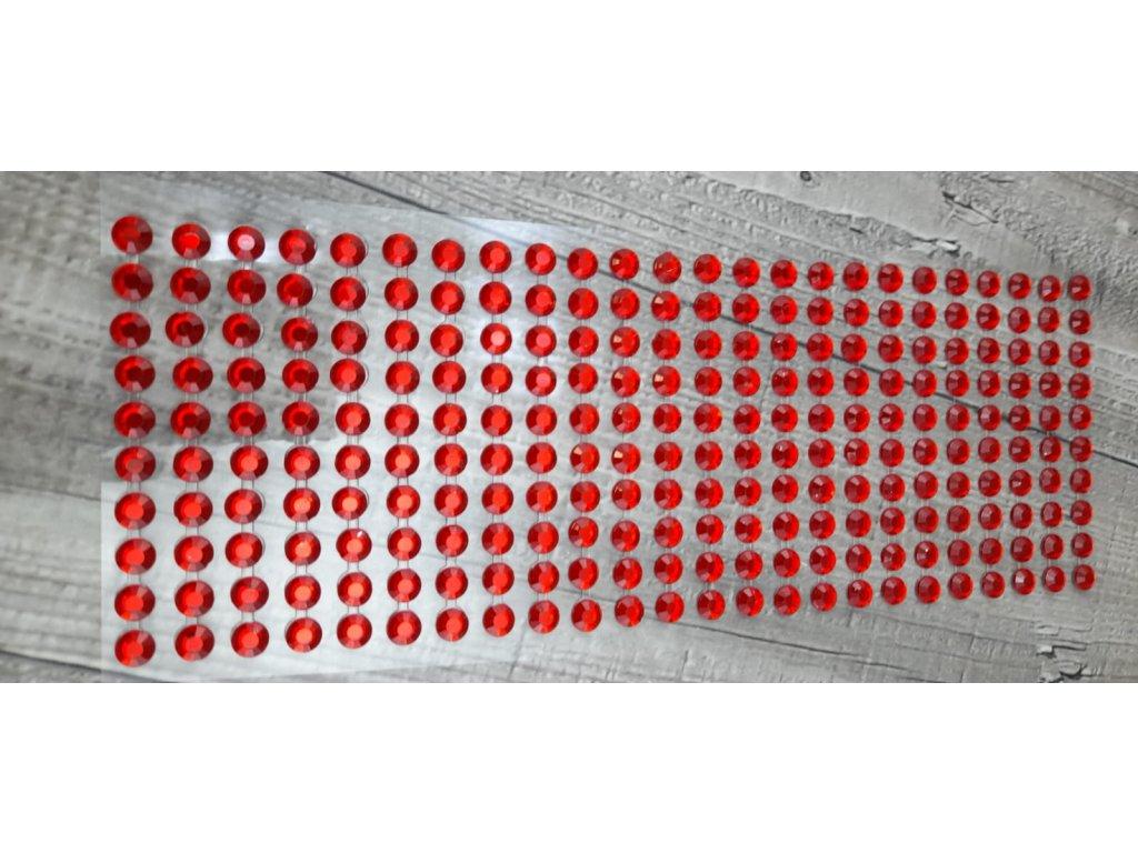 Kamínky nalepovací 8mm-červená