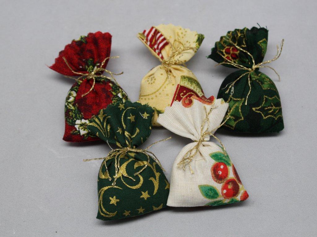 Sáček látkový vánoční koření