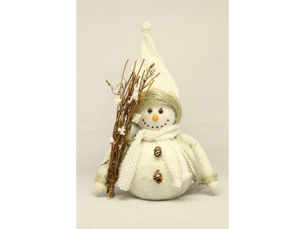 Sněhulák s metličkou
