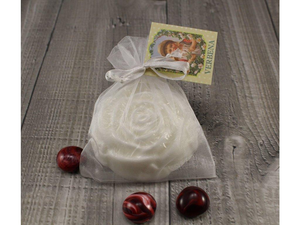 Mýdlo růže verbena bílé 80g