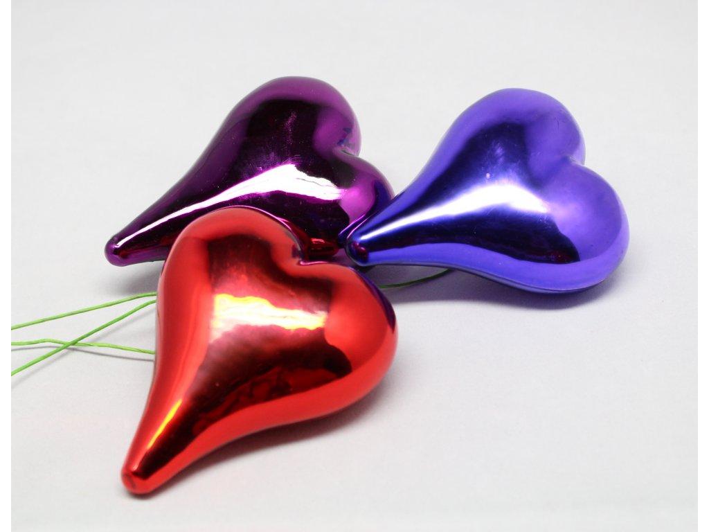 Skleněné srdce 3D velké