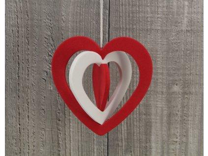 Srdce pěnové velké dvoubarevné