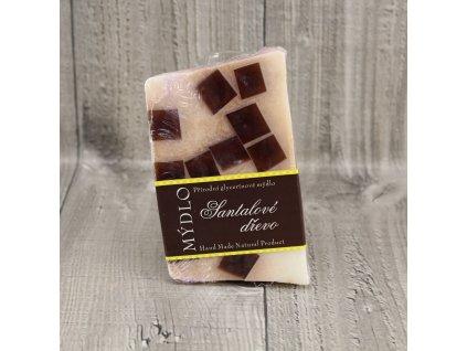 Mýdlo přírodní glycerínové santalové dřevo