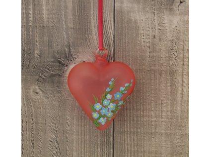 srdce skleněné pomněnky