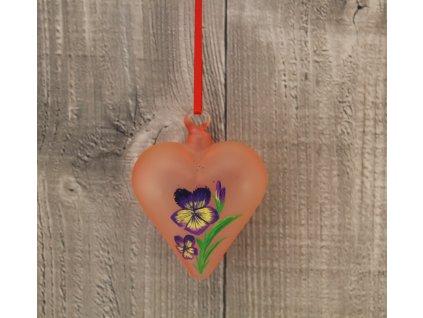 Srdce skleněné fialky