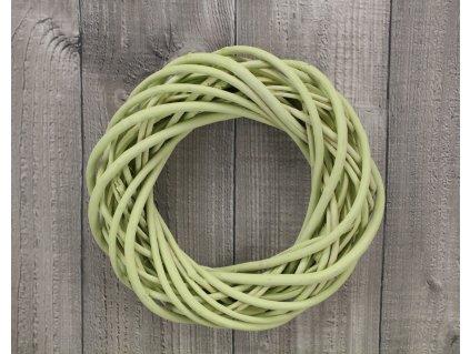 Věnec proutí 25 cm pastelově zelený
