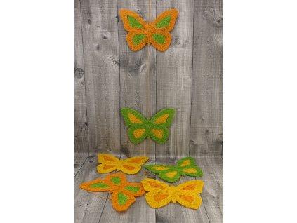 Girlanda motýl 17cm oranžová