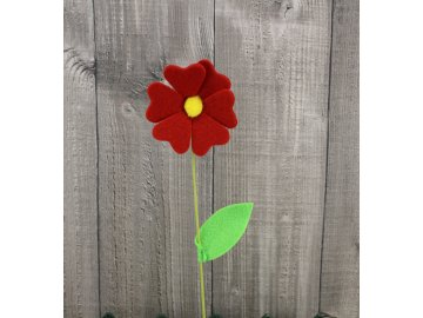 Květ filc červený