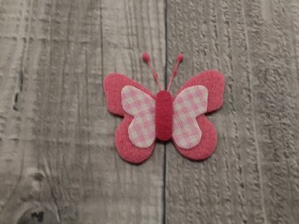 Motýl výsek růžový č5