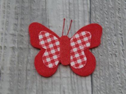Motýl výsek červený č7