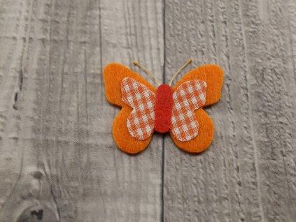 Motýl výsek  oranžový č10