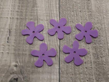 Kytka plast fialová