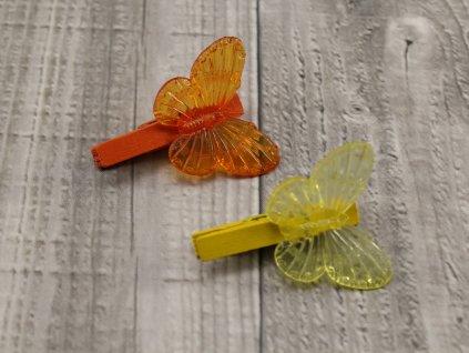Motýl na kolíčku/2ks